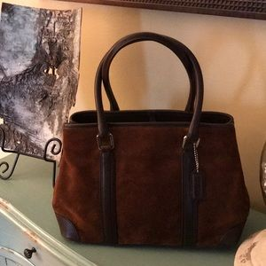 Coach Suede and Leather Bag
